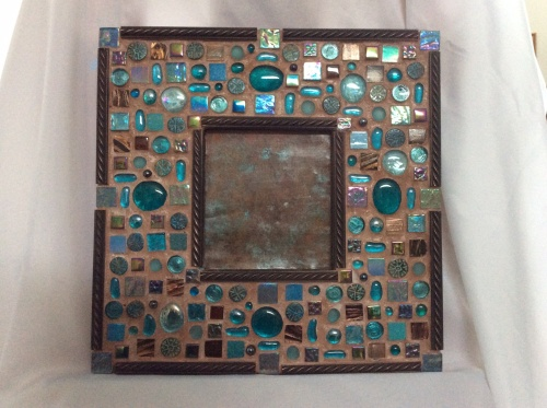 Mosaic magnetic board.