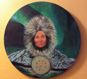 "Grandmother Ice, acrylic on canvas 20""x20"". Copyright 2014 and beyond"